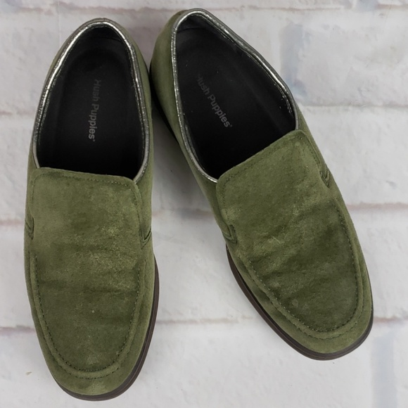 Hush Puppies Shoes - Olive Suede Hush Puppies Size 7